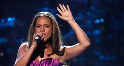 Alicia Keys performing on stage