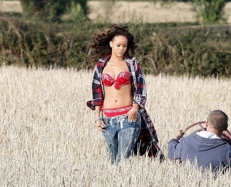 Rihanna filming 'We Found Love' in a Northern Irish field