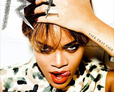 The album cover of Rihanna's 'Talk That Talk'