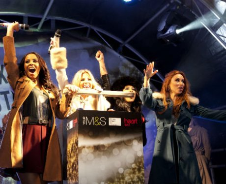 The Saturdays turn on the Christmas lights on Oxfo