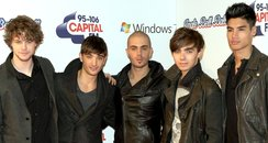 The Wanted arrive at the 2011 Jingle Bell Ball