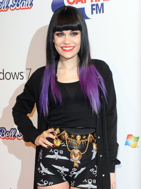 Jessie J backstage at the 2011 Jingle Bell Ball