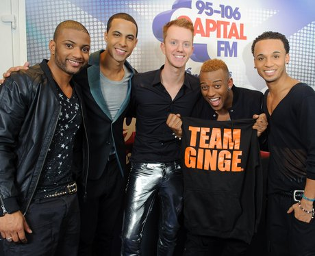 JLS with James Barr backstage at the 2011 Jingle Bell Ball