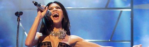 Nicole Scherzinger performing live