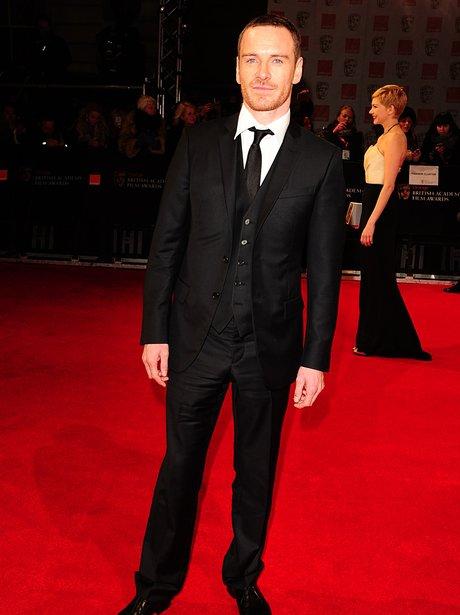 Michael Fassbender arrives at the  BAFTAs 2012 Awa