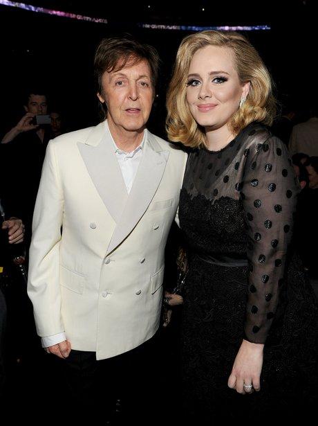 Paul Mccartney and Adele backstage at Grammy Award
