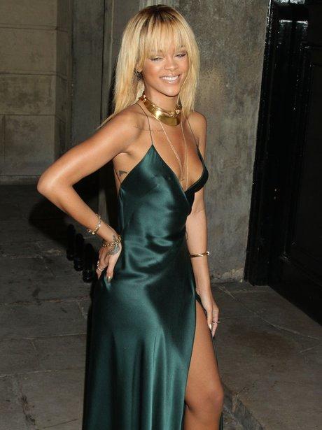 Rihanna attends London Fashion Week
