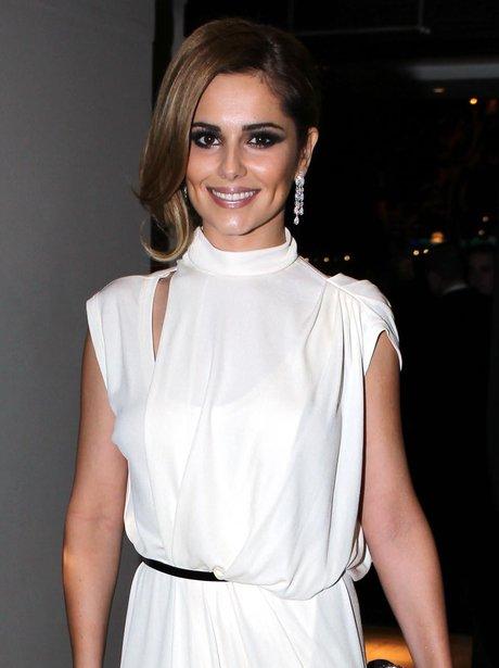 Cheryl Cole in grecian dress