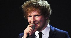Ed Sheeran at the BRIT Awards 2012