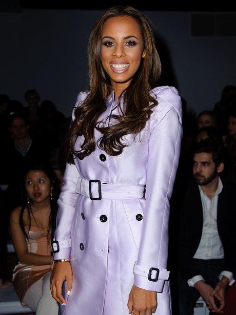 Rochelle Wiseman attends London Fashion Week