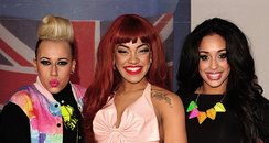 StooShe arrive at the BRIT Awards 2012