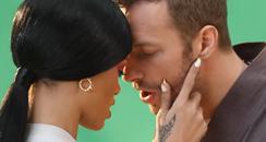 Rihanna and Chris Martin