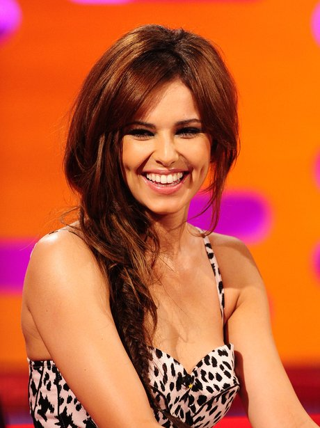 Cheryl Cole smiling on Graham Norton