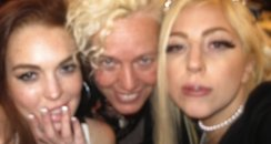 Lady Gaga and Lindsay Lohan slumber party