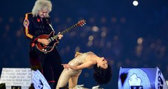Jessie J and Brian May Olympic Closing Ceremony