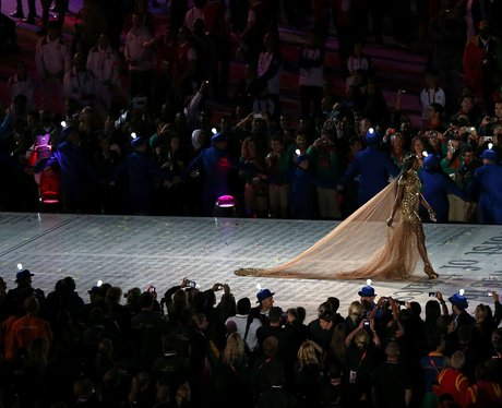 Naomi Campbell at the London 2012 closing ceremony.