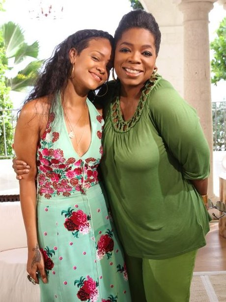 Rihanna and Oprah Winfrey in Barbados