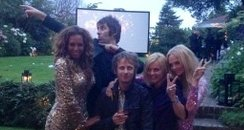 The Spice Girls and Liam Gallagher after closing ceremony