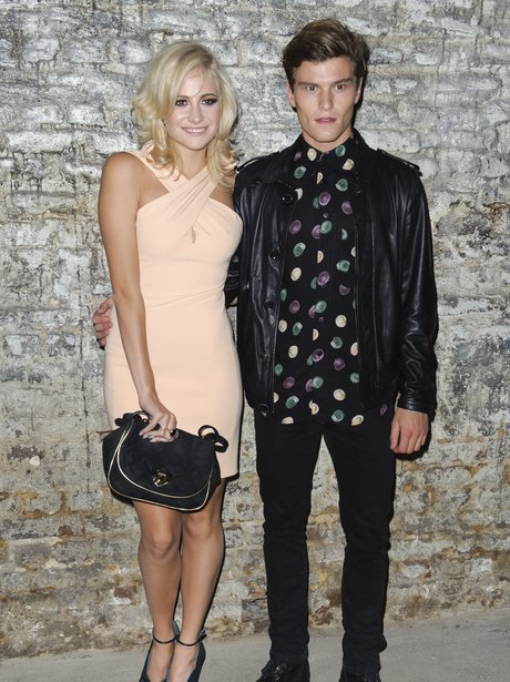 Pixie Lott and Oliver Cheshire London Fashion Week