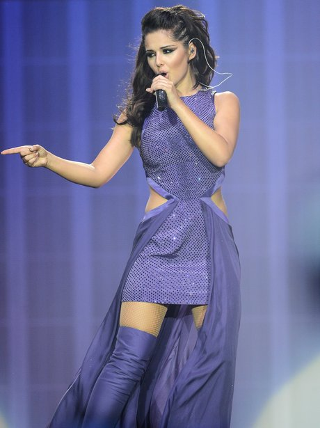 Cheryl Cole performs on her 'A Million Lights' tour.
