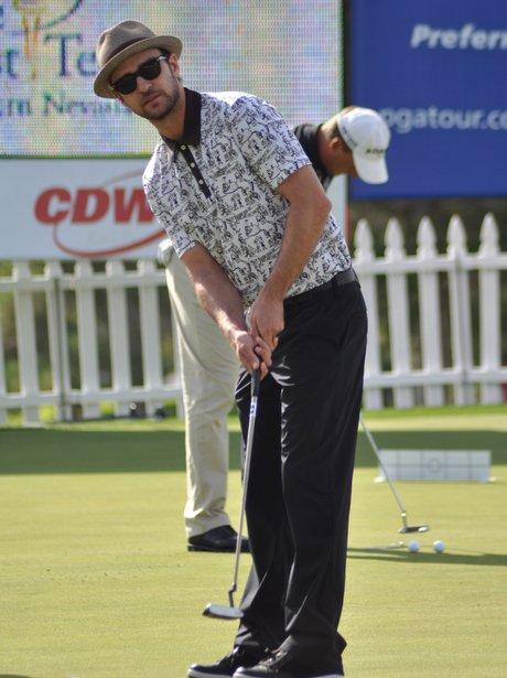 Justin Timberlake plays an all-star golf tournament.