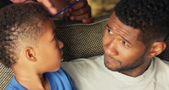 Usher with son