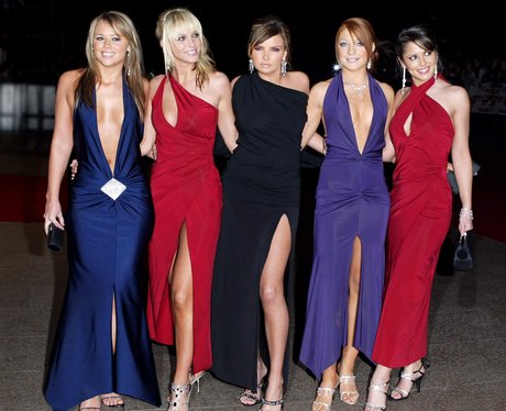 Girls Aloud on the red carpet  at the 'Love Actually' premiere