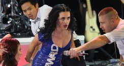 Katy Perry performs at a campaign for Obama