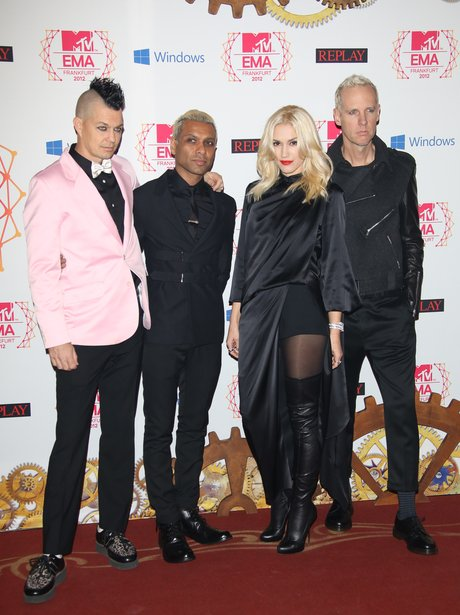 No Doubt on the red carpet at the MTV EMA 2012