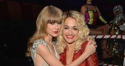 Rita Ora and Taylor Swift  at the MTV VMA's 2012