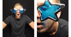 Calvin Harris in the photo booth at the Jingle