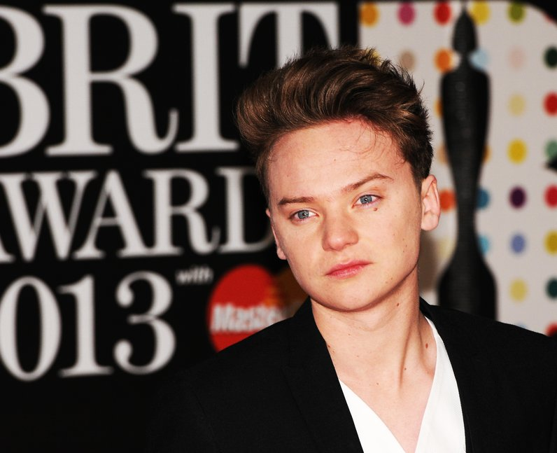 Conor Maynard attends the Brit Awards 2013