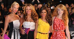 Girls ALoud arrives for the BRIT Awards 2008