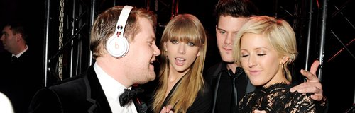 James Corden, Taylor Swift, Jeremy Irvine and Elli