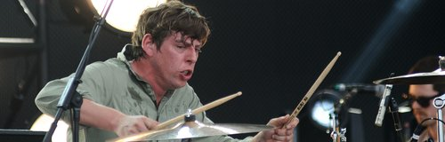 Patrick Carney of The Black Keys performing live