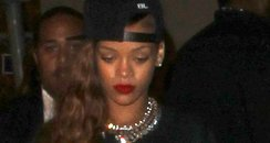 Rihanna on a night out