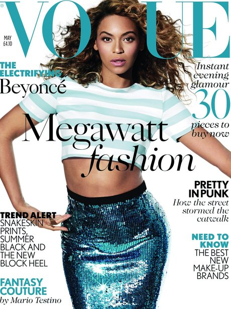 Beyonce on the cover of Vogue UK magazine