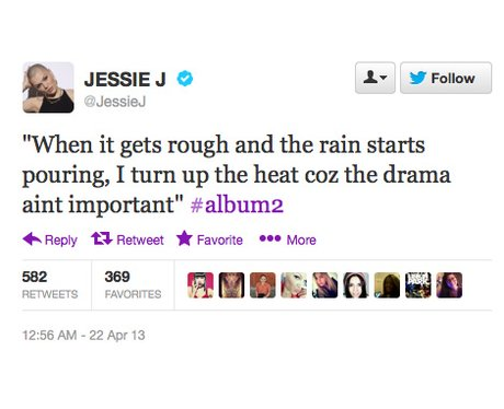 Jessie J tweet