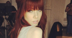 Carly Rae Jepsen with red hair