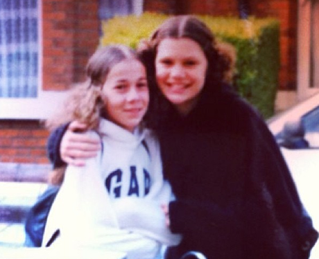 Jessie J posing with her best friend Holly as a teenager