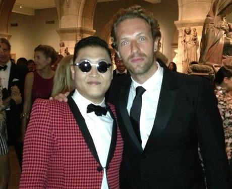 PSY and Chris Martin at the MET Gala Ball 2013