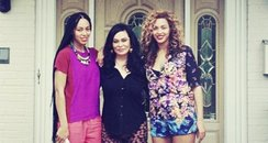 Beyonce with Solange and mum