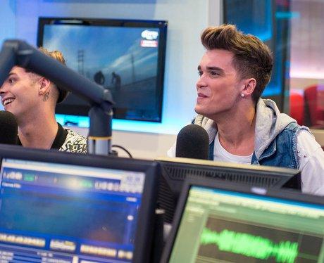 Josh in the studio for Capital FM