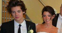 Harry Styles at mums wedding