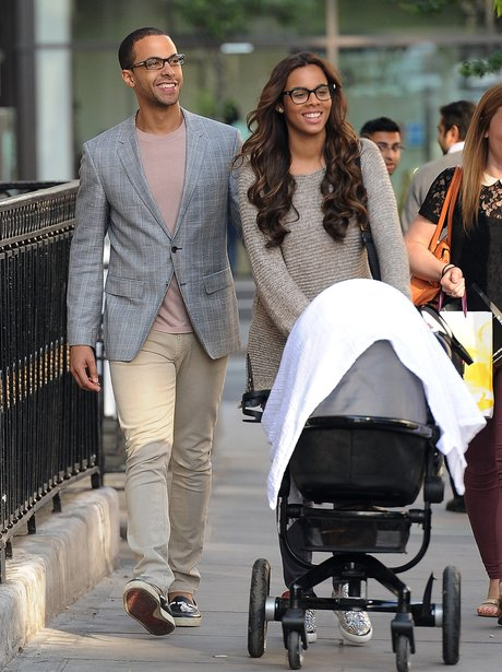 Rochelle Wiseman and Marvin Humes with their baby