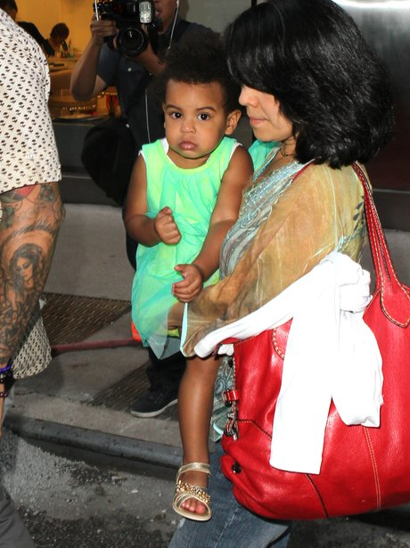 Blue Ivy Carter with her nanny