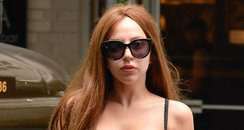 Lady Gaga black bra