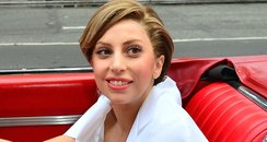 Lady Gaga arriving at good morning america