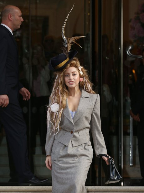 Lady Gaga with shells in her hair