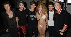 One Direction with Lady Gaga